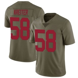 Nike Casey Kreiter New York Giants Youth Limited Green 2017 Salute to Service Jersey