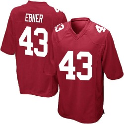 Nike Nate Ebner New York Giants Youth Game Red Alternate Jersey