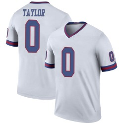 Nike Shakial Taylor New York Giants Men's Legend White Color Rush Jersey