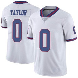 Nike Shakial Taylor New York Giants Men's Limited White Color Rush Jersey
