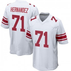 Nike Will Hernandez New York Giants Youth Game White Jersey
