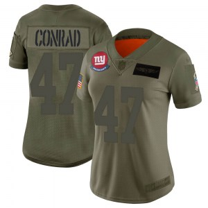 Nike C.J. Conrad New York Giants Women's Limited Camo 2019 Salute to Service Jersey