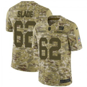 Nike Chad Slade New York Giants Men's Limited Camo 2018 Salute to Service Jersey