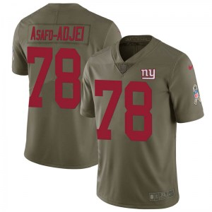 Nike George Asafo-Adjei New York Giants Men's Limited Green 2017 Salute to Service Jersey