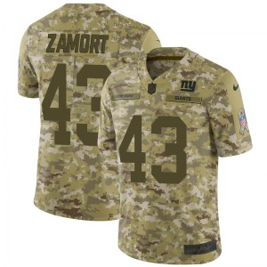 Nike Ronald Zamort New York Giants Youth Limited Camo 2018 Salute to Service Jersey