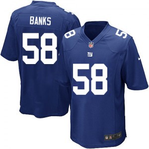 Nike Carl Banks New York Giants Men's Game Royal Blue Team Color Jersey