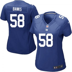 Nike Carl Banks New York Giants Women's Game Royal Blue Team Color Jersey